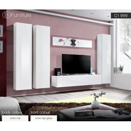 Modern Wall Unit Dispaly Living Room Unit High Gloss Furniture Air C High Gloss If Furniture