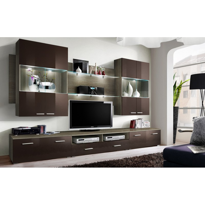 Modern Wall Unit Dispaly Living Room Unit High Gloss ...