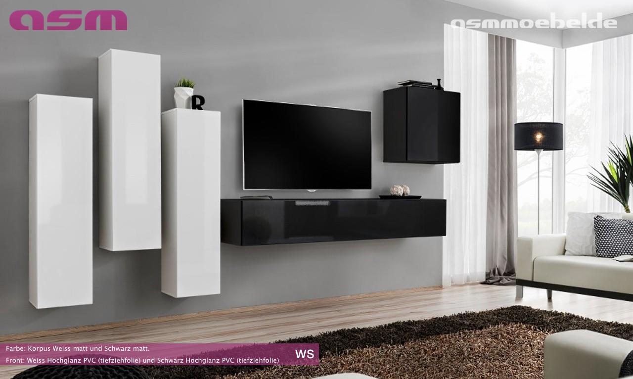 Modern Wall TV Display Living Room Unit High Gloss Furniture SWITCH ...