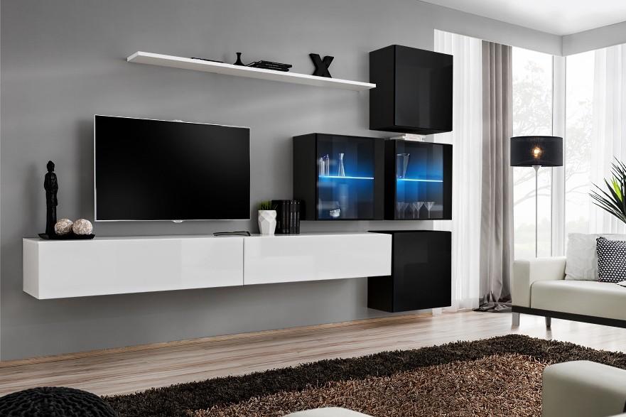 Modern Wall TV Display Living Room Unit High Gloss Furniture