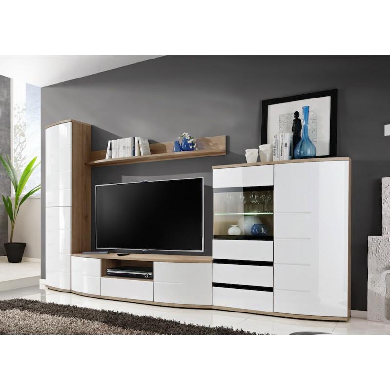Modern Wall Unit Display Living Room Unit High Gloss Furniture