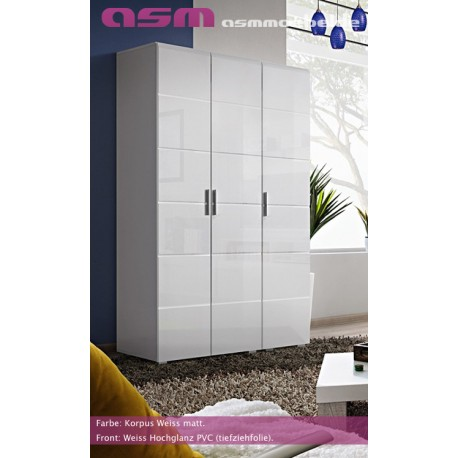 Modern Bedroom Wardrobe Three Door High Gloss Wardrobe KRONE New Free P&P Top