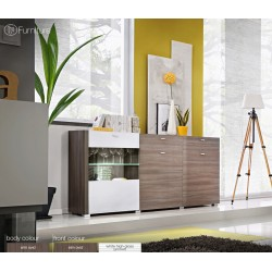 Modern Chest Drawers Cabinet Sideboard Buffet Cupboard Glossy Lousanne Free P&P