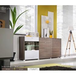Modern Chest Drawers Cabinet Sideboard Buffet Cupboard Glossy Lousanne Free P&P