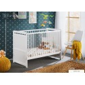 White Pine Wood Baby Cot Junior Toddler Bed Timmy with 4 inch Foam Mattress 120 cm x 60 cm