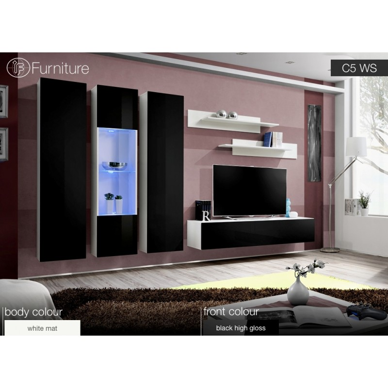 wall cabinets living room furniture. Plain Living Wall Unit AIR C5 WS Loading Zoom Throughout Cabinets Living Room Furniture
