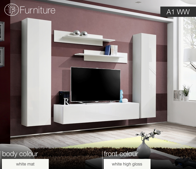 Modern Wall Unit Tv Display Living Room Unit High Gloss