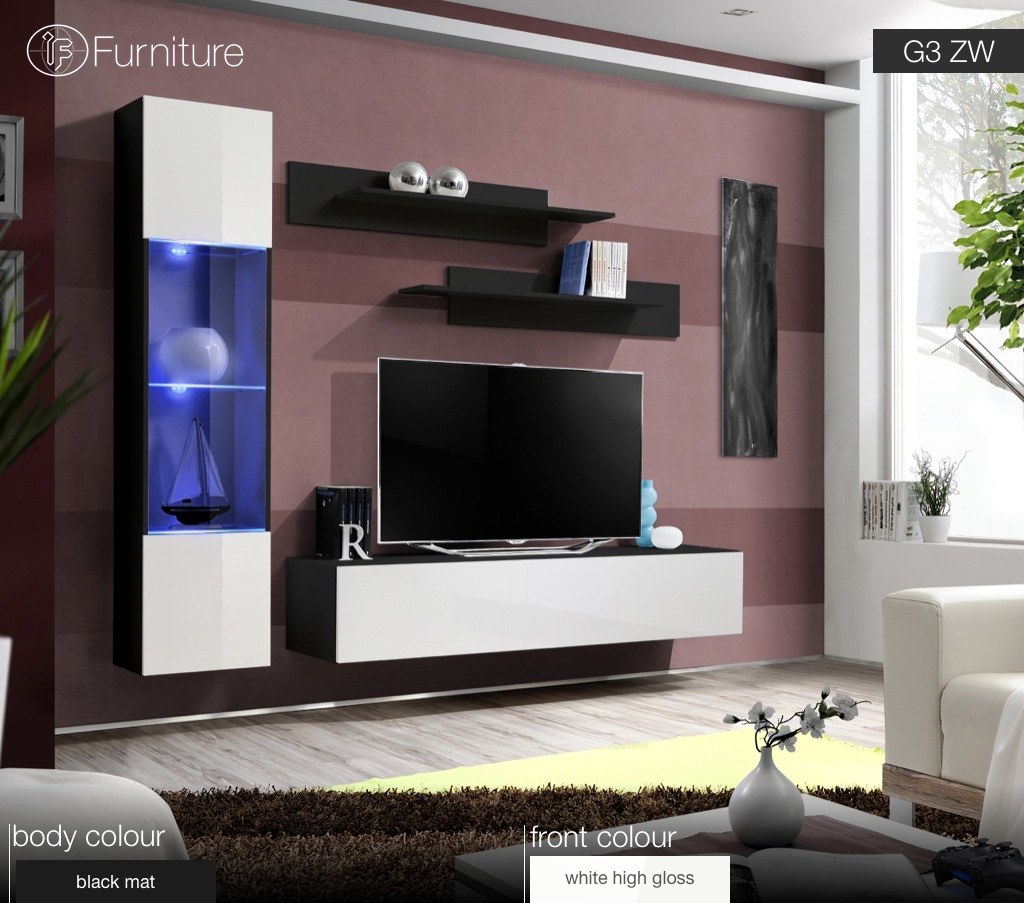 Modern Furniture Zw modern wall unit tv display living room unit high gloss furniture